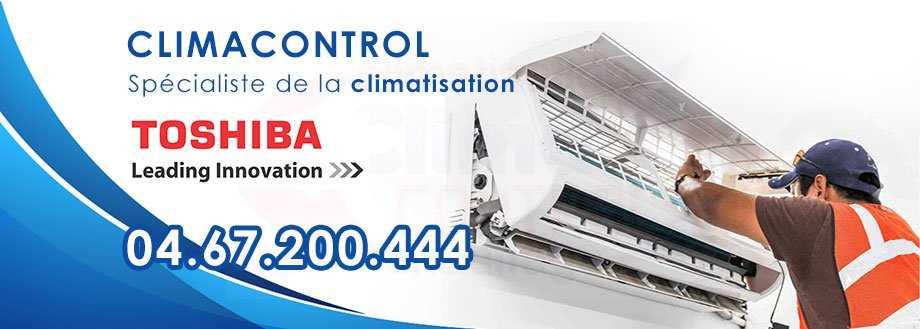 Climacontrol climatisation Toshiba Montpellier ☎ 04.67.200.444